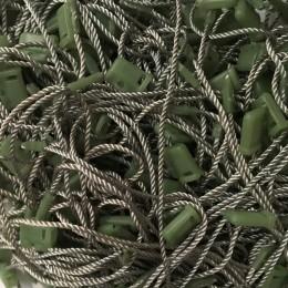 Крепеж-пломба для этикеток шнур серая пластик зеленый (1000 штук)