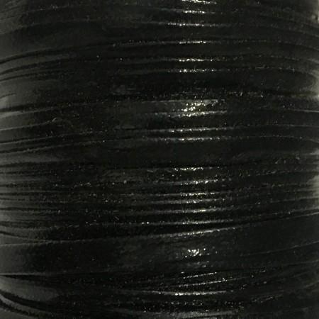 Бейка лаковая 5 мм черная (30 ярдов)