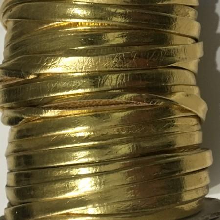 Бейка лаковая 5 мм золото (30 ярдов)