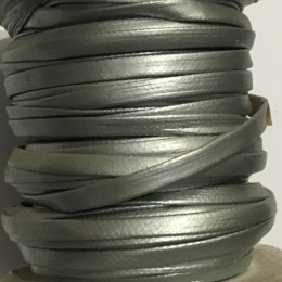 Бейка матовая 5 мм серебро (30 ярдов)