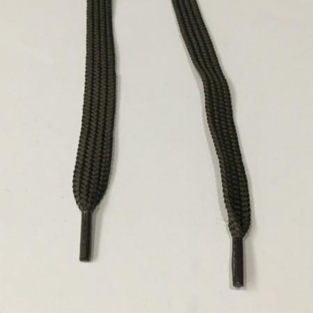 Шнурок плоский пэ17 1,4 см 6мм хаки (пары)