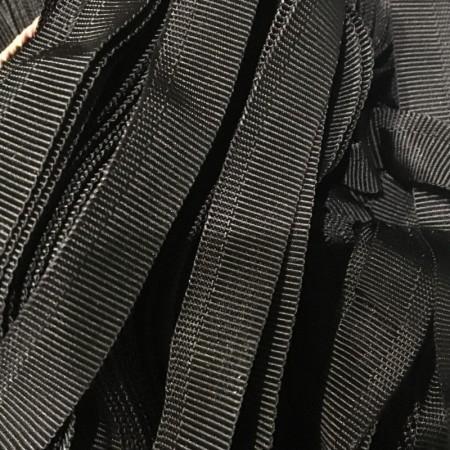 Тесьма брючная 15мм черная (25 метров)