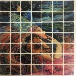 Рисунок квадраты клеевой девушка лев 14х14см  (Штука)