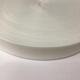 Тесьма окантовочная 18мм белая (50 метров)