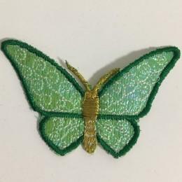 Вышивка апликация бабочка 7х5см зеленый темный (Штука)