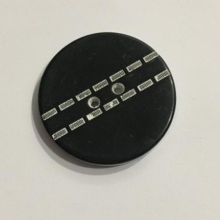 Пуговица пришивная 3575 черная белая строчка 40 (25мм) (Штука)