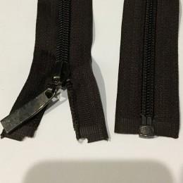Молния нейлон пластмасса 85см №5 088 коричневый темный бегунок темный (Штука)