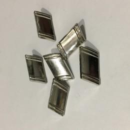 Кнопка металлическая 15.х10мм никель верх (Штука)