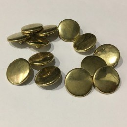 Кнопка металлическая 15мм золото верх (Штука)