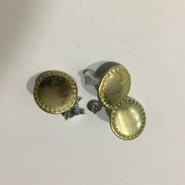 Пуговица джинсовая прибивная 20мм золото (200 штук)