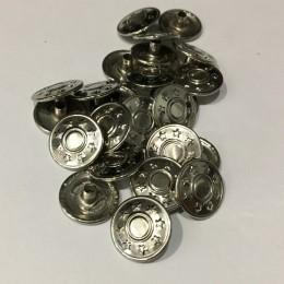 Кнопка металлическая 15мм звезды никель (720 штук)