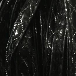 Бейка лаковая 5 мм узор сребро (30 ярдов)