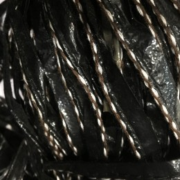 Кант лаковый кожезаменитель косичка ручной стежок коричнева нить (30 метров)