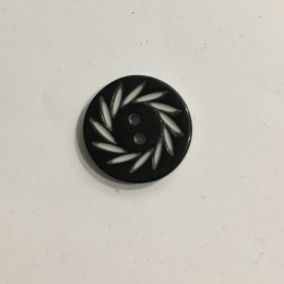 Пуговица пришивная 3572 черная 54 (34мм) (Штука)