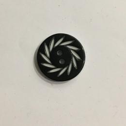 Пуговица пришивная 3572 черная 36 (23мм) (Штука)