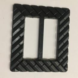 Пряжка пластиковая декоративная черная кирпичная кладка 4,5 см (Штука)
