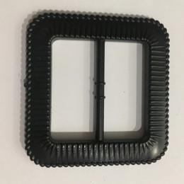 Пряжка пластиковая декоративная черная квадрат закругленные углы 4,5см (Штука)