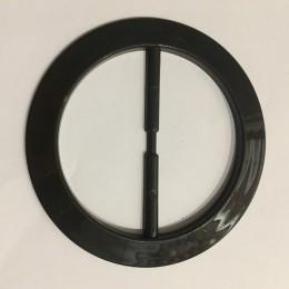 Пряжка пластиковая декоративная коричневая круг большой 7см (Штука)