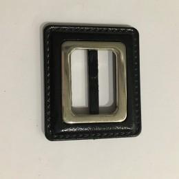 Пряжка пластиковая декоративная черная квадратная шов 3см (Штука)