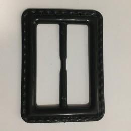 Пряжка пластиковая декоративная черная стежок ХХL 10см (Штука)