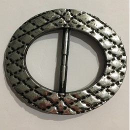 Пряжка пластиковая декоративная овал темный никель 4,8см (Штука)