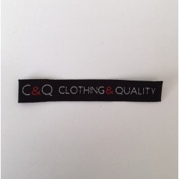 Этикетка жаккардовая вышитая Clothing Quality 10 мм заказная (1000 штук)