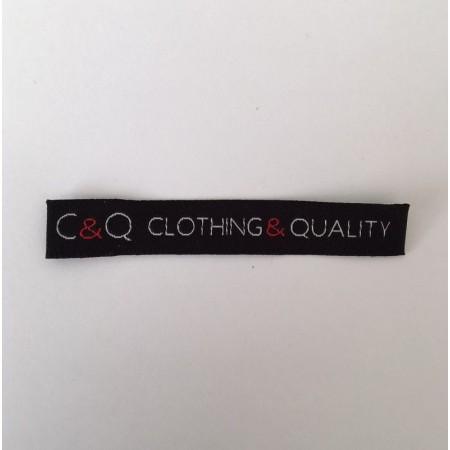 Жаккардовые тканевые этикетки для одежды