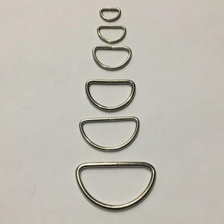 Полукольцо металлическое 40мм (100 штук)