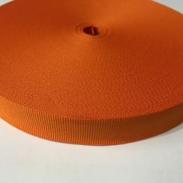 Тесьма репсовая производство 20мм оранжевый (50 метров)