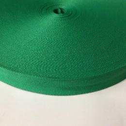 Тесьма репсовая производство 20мм зеленый (50 метров)