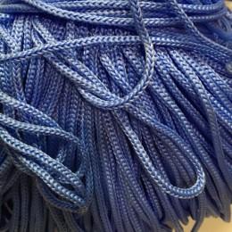 Шнур круглый 4мм ПП голубой (100 метров)