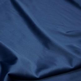 Ткань атлас королевский стрейч темно-синий (метр )