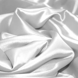 Ткань атлас королевский стрейч белый (метр )