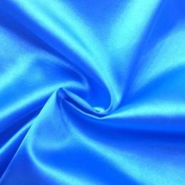 Ткань атлас стрейч голубая бирюза (метр )