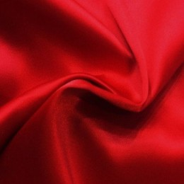 Ткань атлас стрейч тонкий красный (метр )