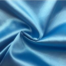 Ткань атлас стрейч голубой (метр )