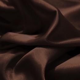 Ткань атлас стрейч тонкий  шоколад (метр )