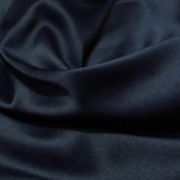 Ткань атлас коттон темно-синий (метр )