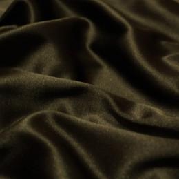 Ткань атлас коттон коричневый (метр )