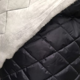 Ткань стежка на синтепоне черная (метр )
