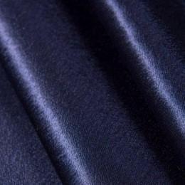 Ткань креп-сатин темно-синий (метр )