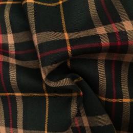 Ткань костюмная стрейч полоска черная(Турция) (метр )