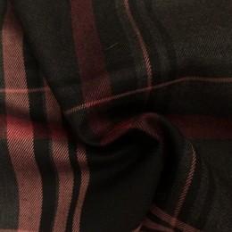 Ткань костюмная стрейч полоска темно-серая(Турция) (метр )