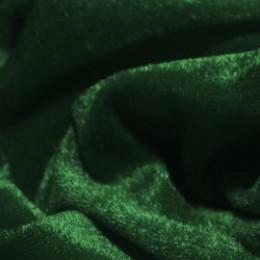 Ткань велюр стрейчевый темно-зеленый (метр )