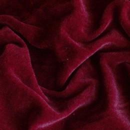 Ткань велюр стрейчевый бордовый (метр )