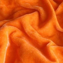 Ткань велюр стрейчевый оранжевый (метр )