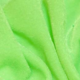 Ткань велюр стрейчевый ярко-салатовый (метр )