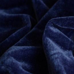 Ткань велюр стрейчевый темно-синий (метр )
