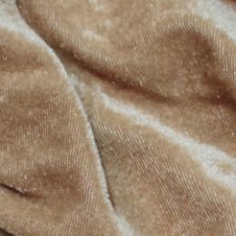 Ткань велюр стрейчевый темно-бежевый (метр )