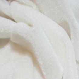 Ткань велюр стрейчевый молочный (метр )